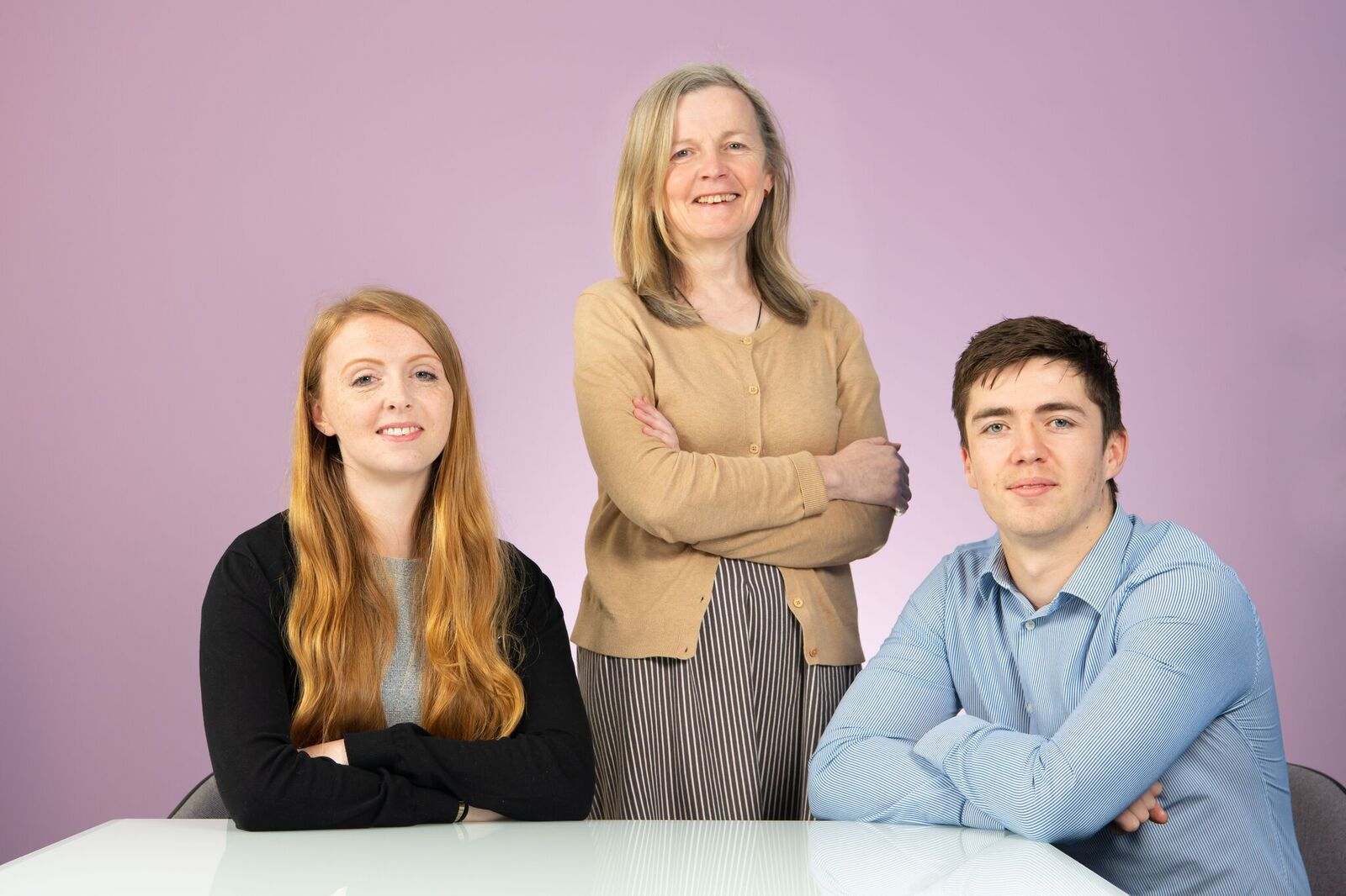 L to R - Ellie Greenwood, Mary McDonagh and Tom Davies