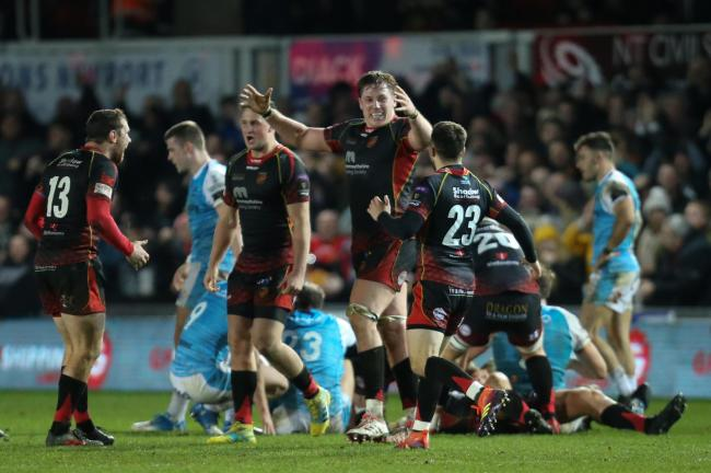 VICTORY: The Dragons ended their derby drought by beating the Ospreys in December