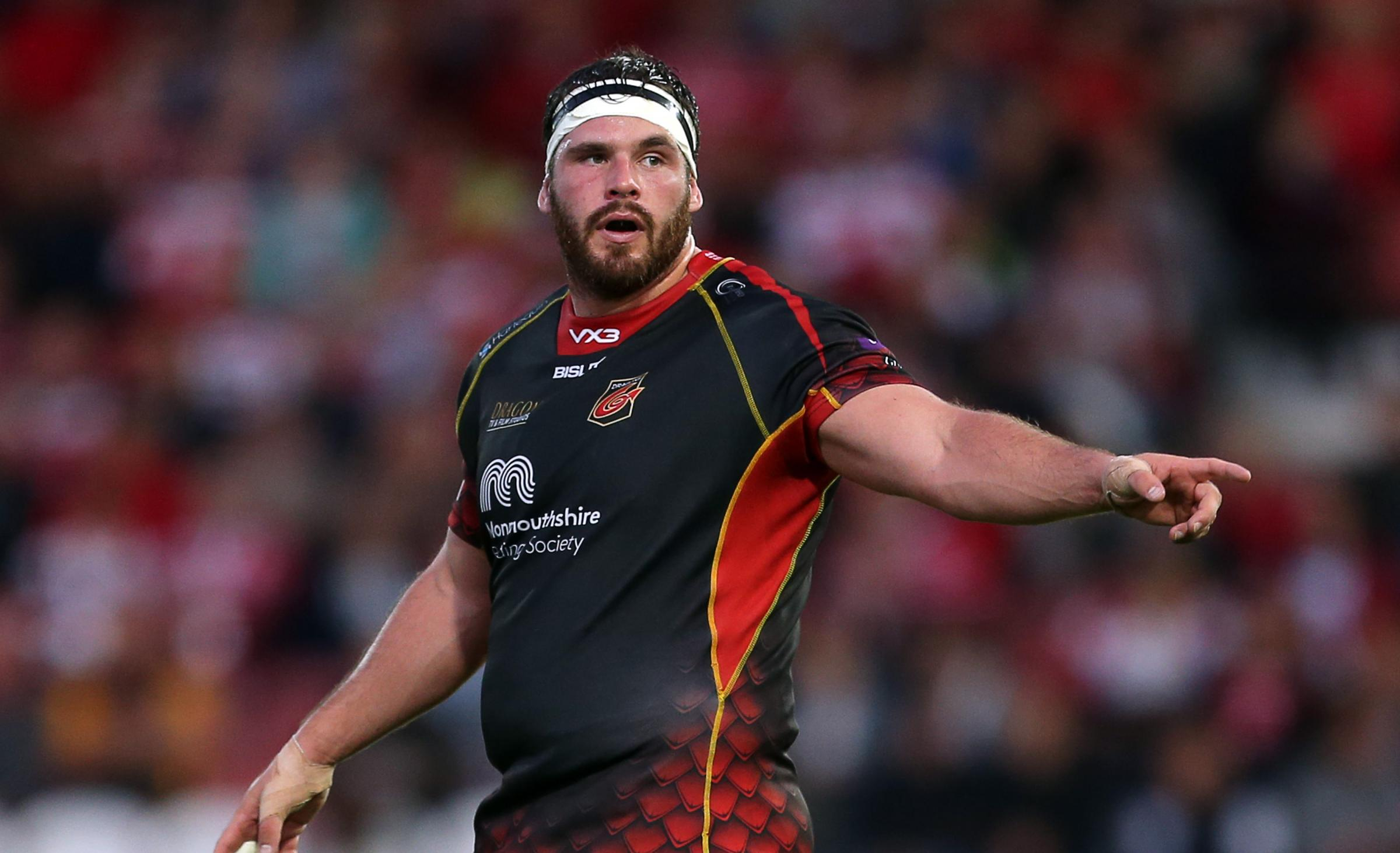 INJURY BLOW: The Dragons are without loosehead Ryan Bevington (Pic: Huw Evans Agency)