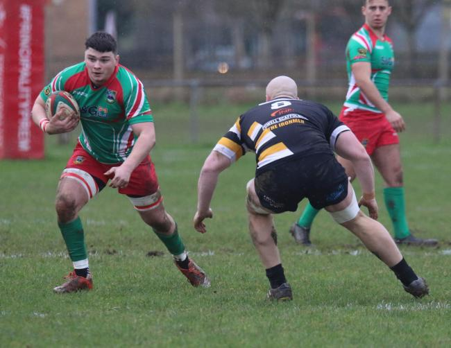 BACK: Nathan Hudd, left, is back in the Bedwas squad for the trip to Church Bank