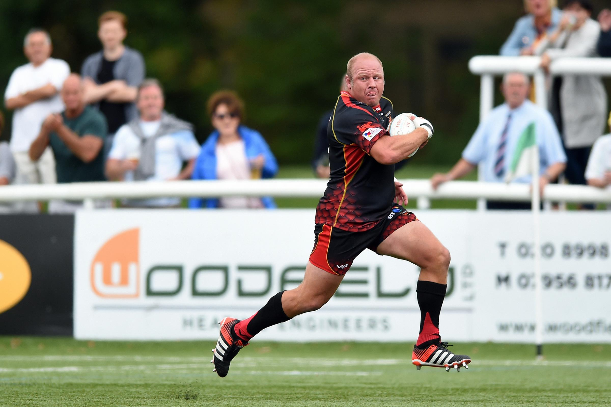 FITNESS BOOST: Dragons prop Brok Harris is close to a return