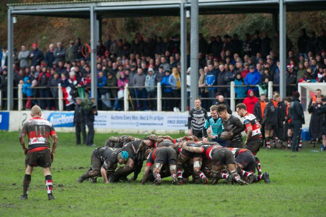 FULL HOUSE: A packed Pandy Park in March 2017 when Keys and Pooler met in the National Cup last eight