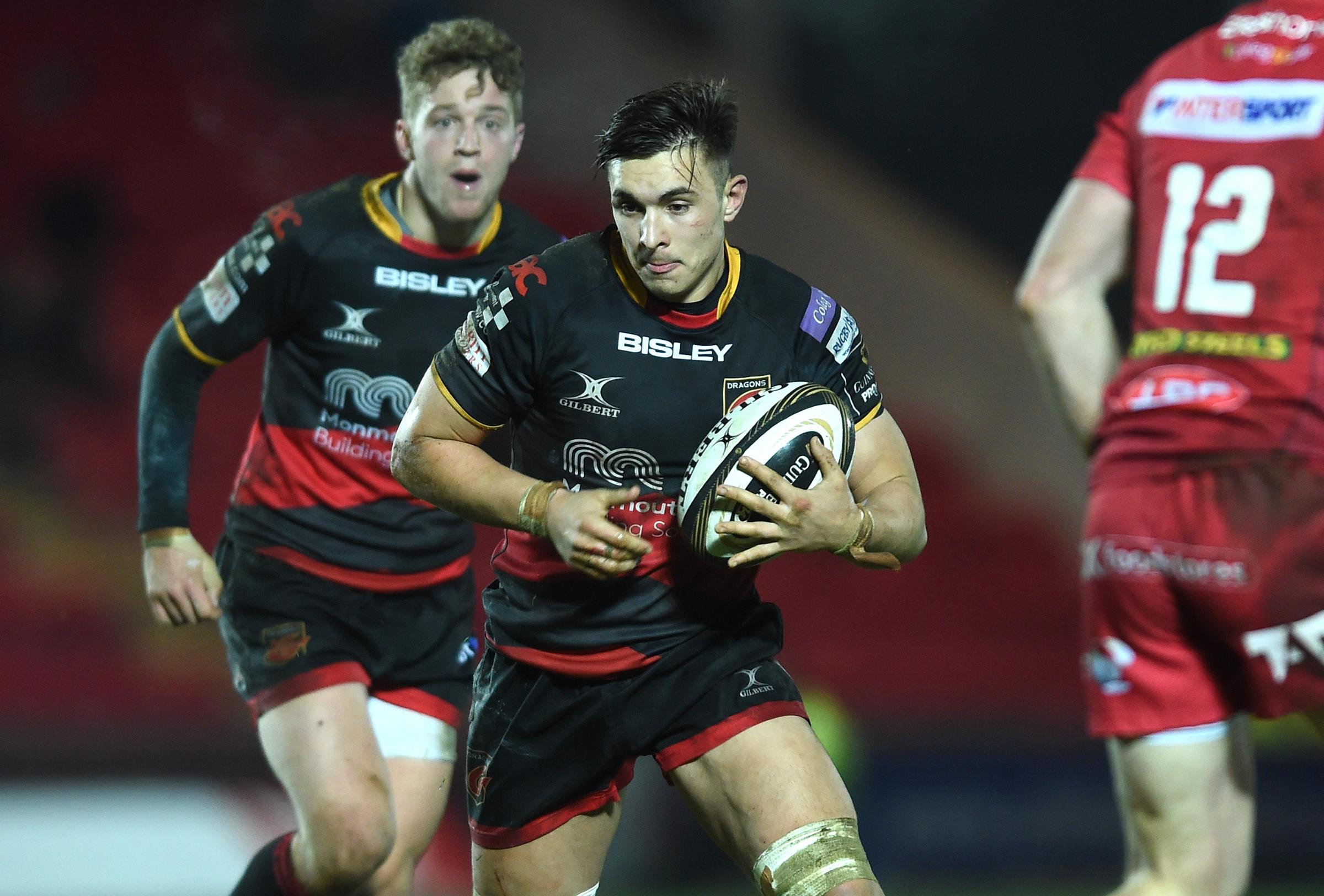 BRIGHT PROSPECT: Dragons back rower Taine Basham scored a hat-trick for Wales Under-20s in Italy