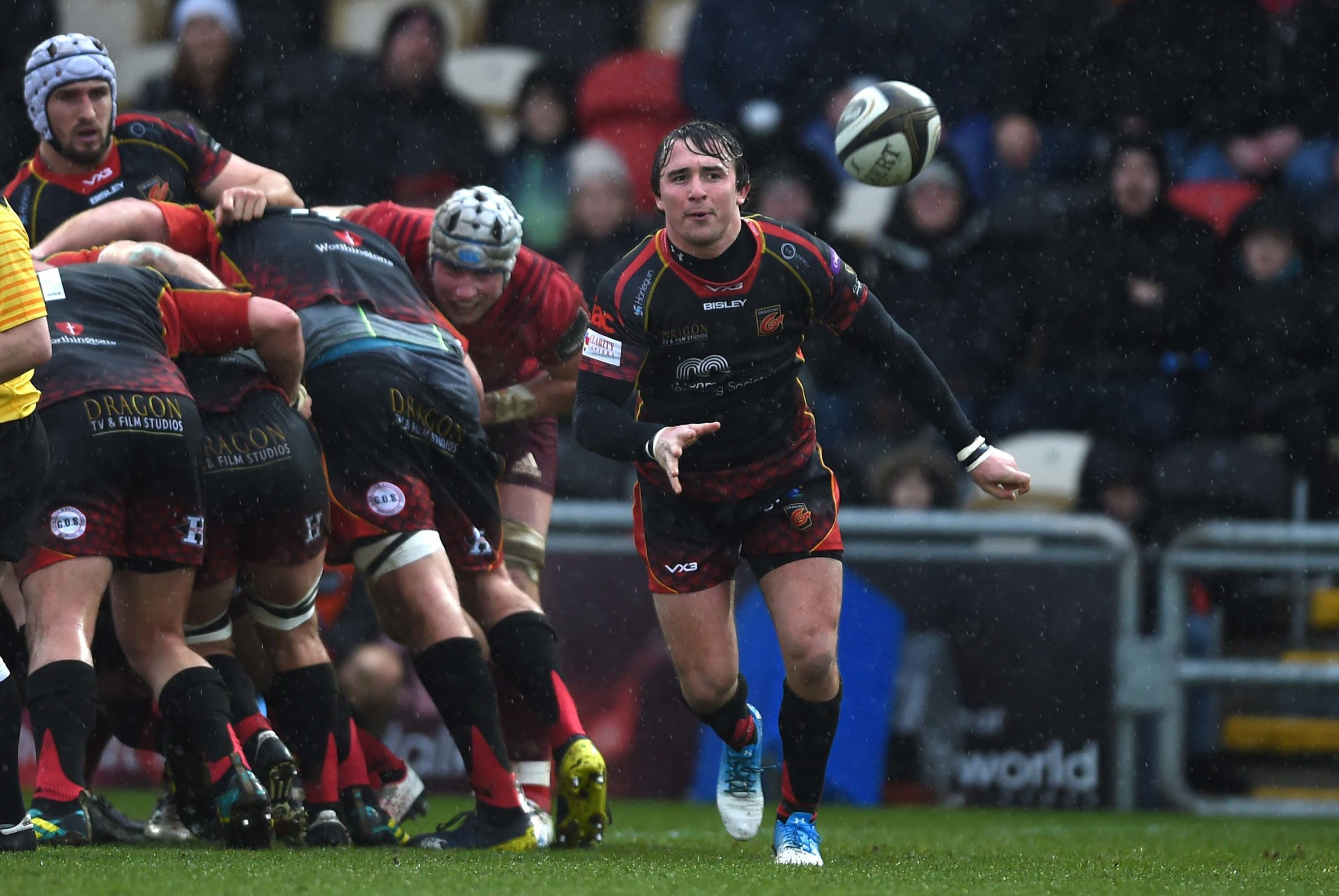 OPTIMISTIC: Scrum-half Rhodri Williams thinks the Dragons are on the right track
