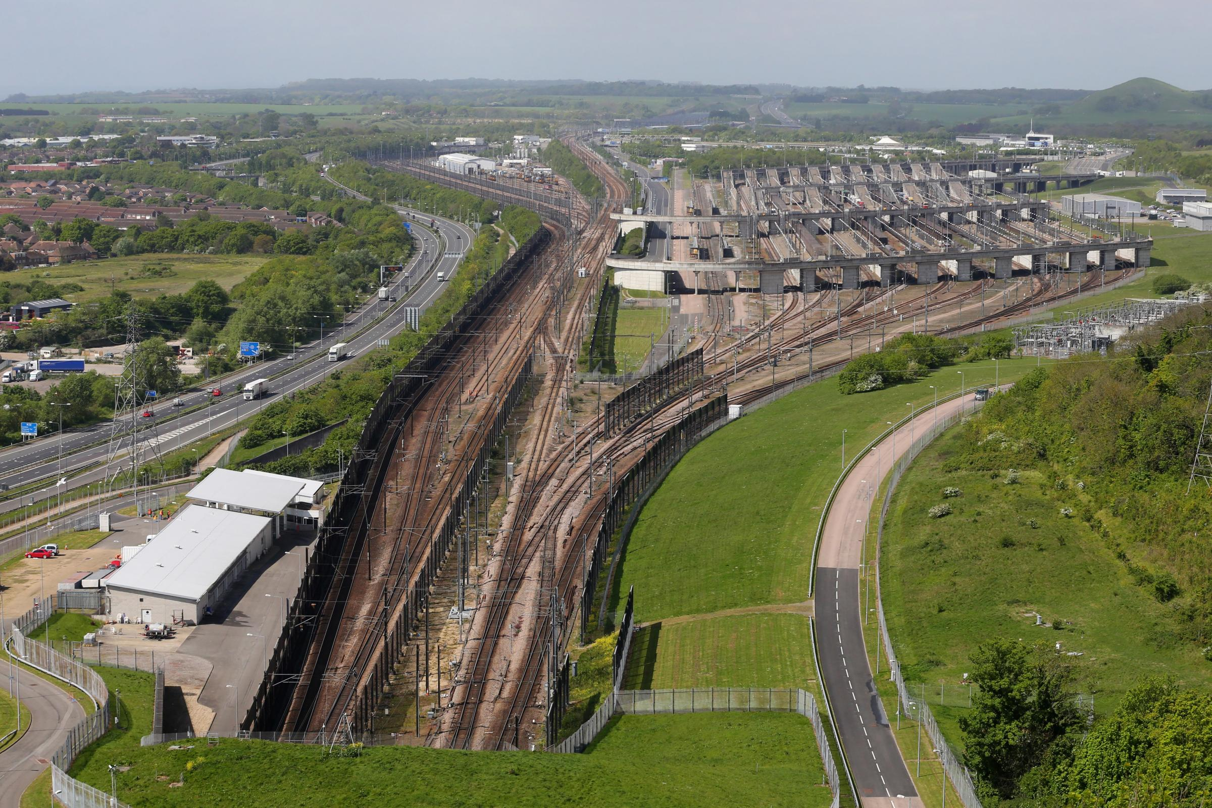 The Eurotunnel site in Folkestone, Kent