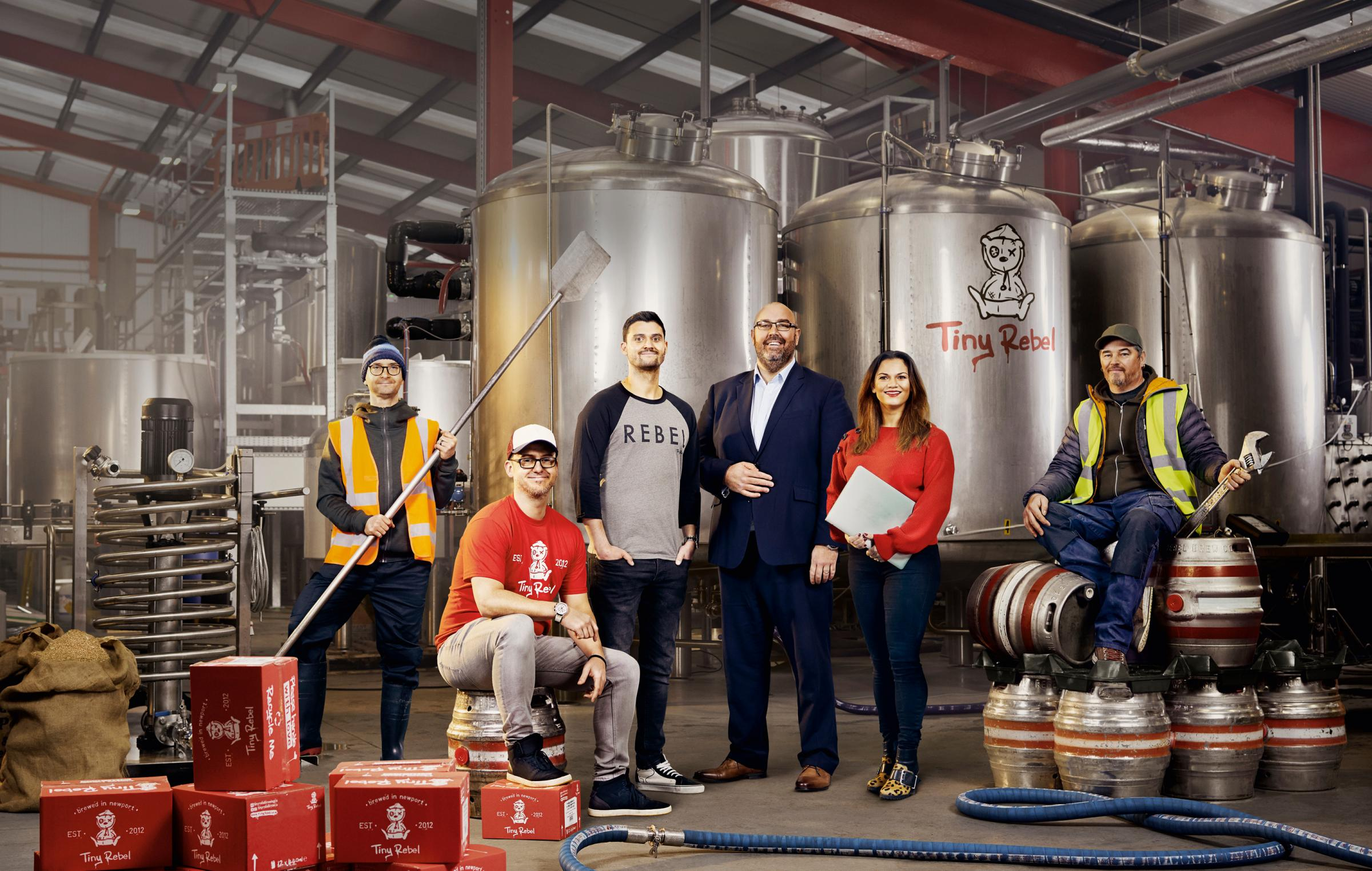 From left to right: Paul Reid (TR), Gareth Williams (TR), Brad Cummings (TR), David Williams (Lloyds Bank), Hannah Williams (TR), Trev Mizon (TR).