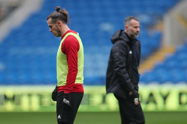 TRAINING: Gareth Bale, Ryan Giggs and the Wales squad are heading to Portugal