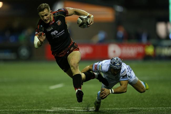 BLUES-BOUND: Dragons speedster Hallam Amos will call Cardiff home next season