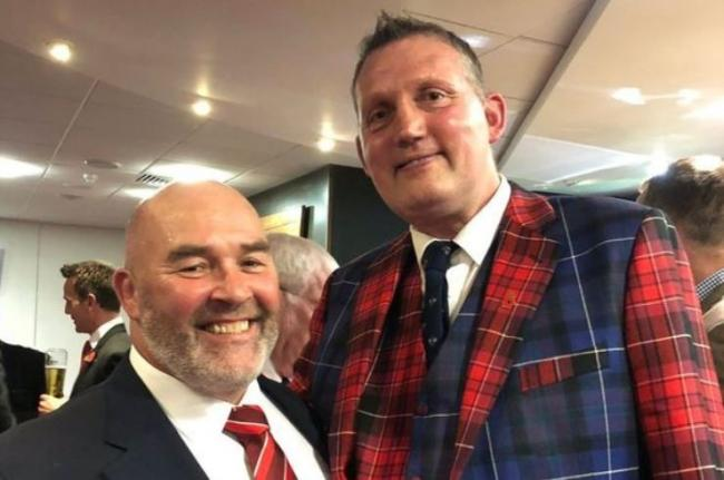 INSPIRATIONAL: Former Wales hooker Ken Waters with ex-Scotland lock Doddie Weir. Both men have been diagnosed with motor neurone disease.