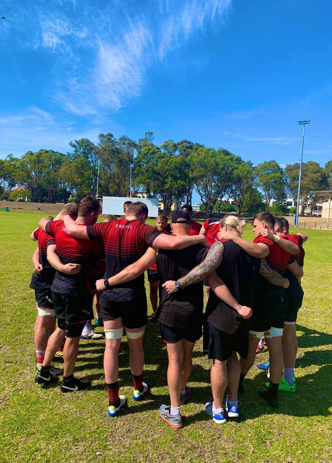 Dragons training in Cape Town ahead of their clash with the Cheetahs