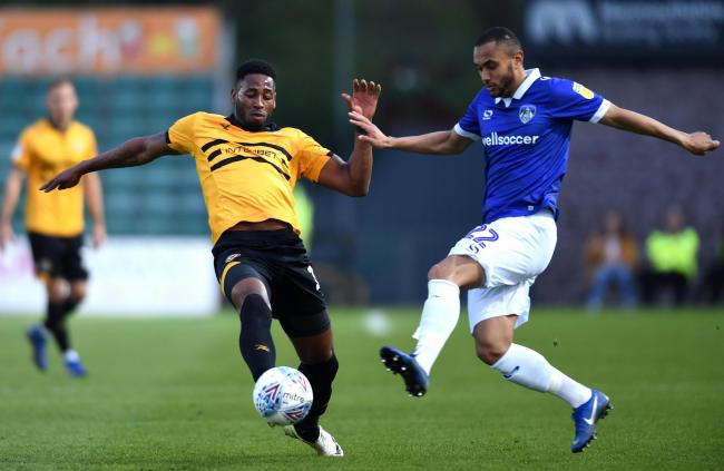 FLASHBACK: Jamille Matt in action for Newport County against Oldham Athletic last season