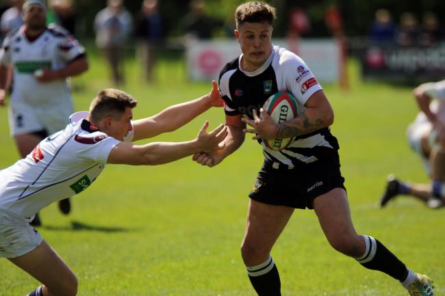 BIG WIN: Joseph Scrivens in action for Bedwas against Swansea. Picture: Ian Lovell