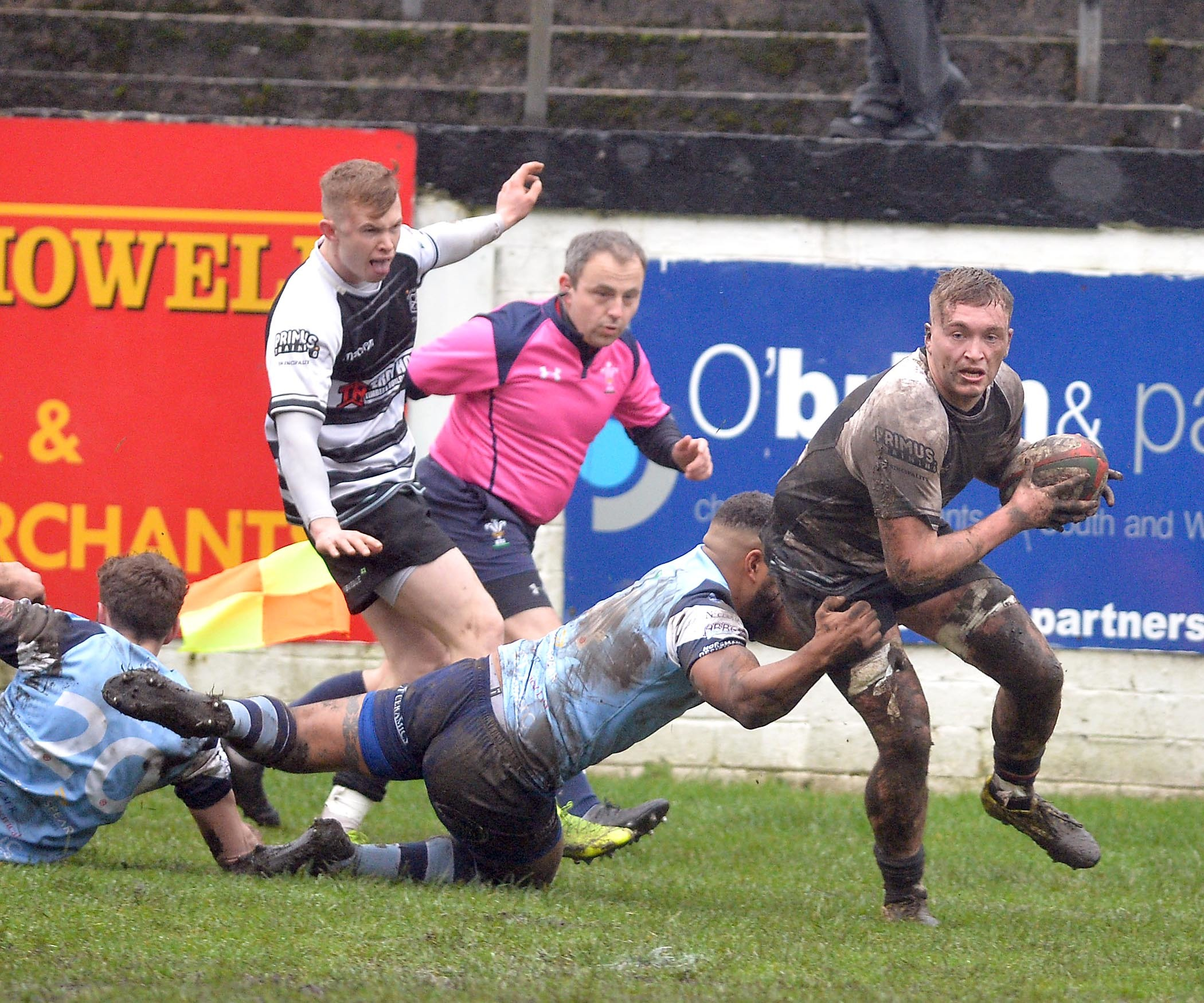 TOUCHDOWN: Garin Price was among the try scorers for Cross Keys against RGC 1404. File picture: christinsleyphotography.co.uk