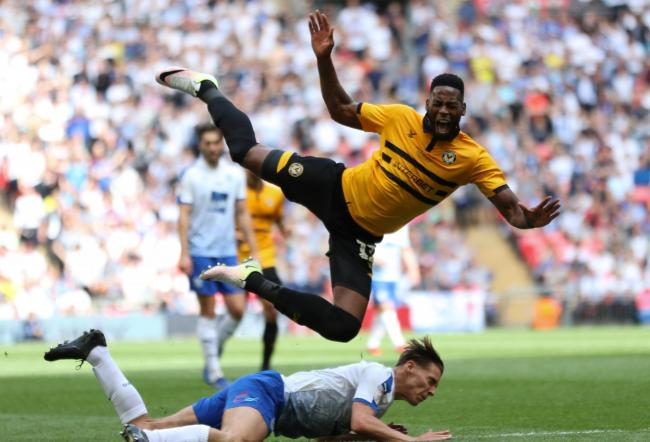 EXCITED: Newport County striker Jamille Matt would love to return to Wembley after defeat to Tranmere Rovers in last year's League Two play-off final