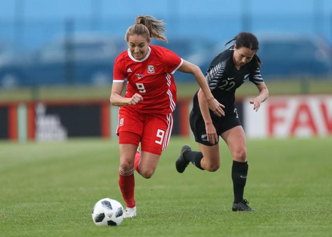WINNER: Kayleigh Green grabbed the late winning goal for Wales against New Zealand. Pictures: Huw Evans Agency