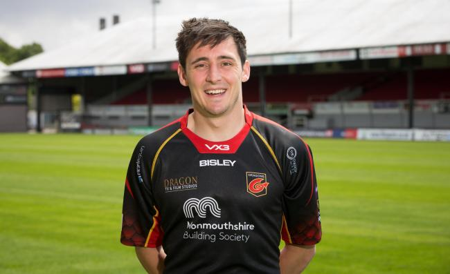 NEW BOY: Dragons signing Sam Davies (Picture: Dragons)
